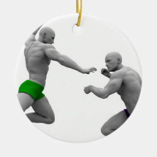 Martial Arts Concept for Fighting and Protection Ceramic Ornament