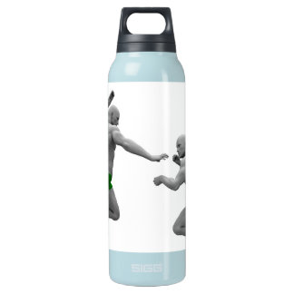 Martial Arts Concept for Fighting and Protection Insulated Water Bottle