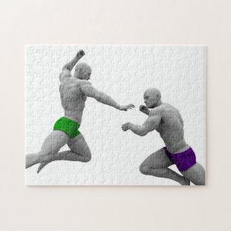Martial Arts Concept for Fighting and Protection Jigsaw Puzzle