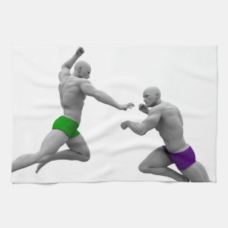 Martial Arts Concept for Fighting and Protection Kitchen Towel