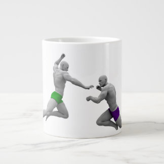 Martial Arts Concept for Fighting and Protection Large Coffee Mug