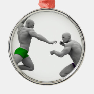 Martial Arts Concept for Fighting and Protection Metal Ornament