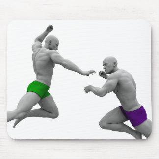 Martial Arts Concept for Fighting and Protection Mouse Pad