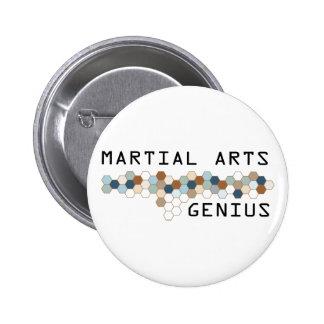 Martial Arts Genius 2 Inch Round Button