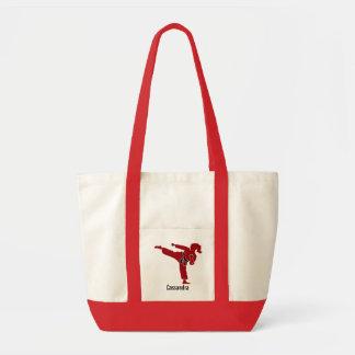 Martial Arts Girl Silhouette Tote Bag Cassandra