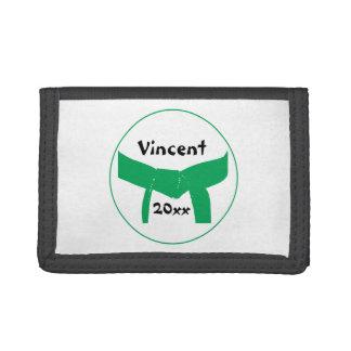 Martial Arts Green Belt Tri-fold Wallet