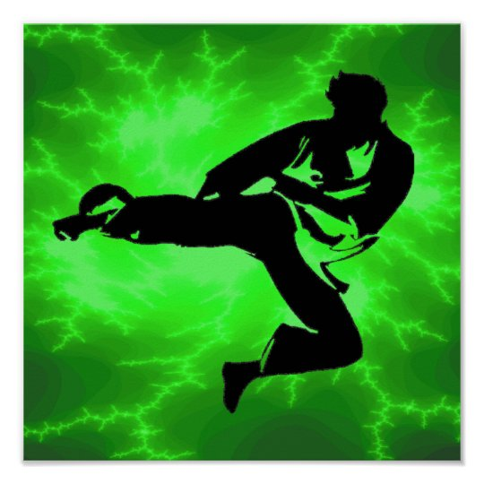 Martial Arts Green Lightning poster (male)
