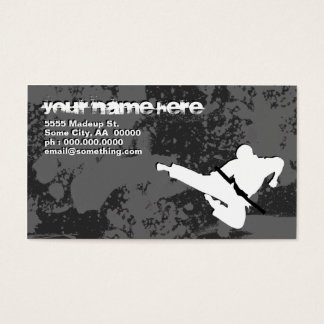 martial arts : grunge silhouettes : business card