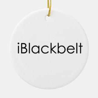 Martial Arts iBlackbelt Ceramic Ornament