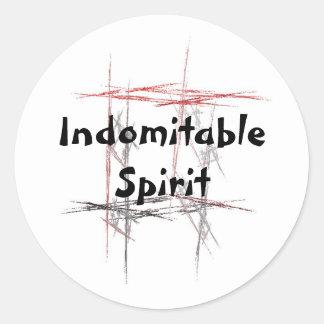 Martial Arts Indomitable Spirit Stickers
