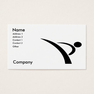Martial Arts/Karate Instructor Business Card