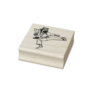 Martial Arts Kick Rubber Stamp