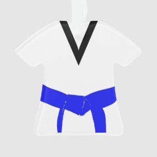 Martial Arts Light Blue Belt Uniform Ornament