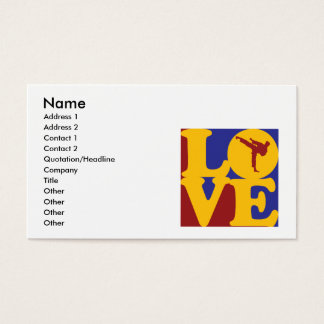 Martial Arts Love Business Card