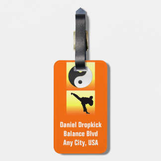 Martial Arts Luggage Tag