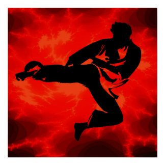 Martial Arts man Red Lightning poster