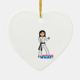 Martial Arts Medium.png Ceramic Heart Ornament