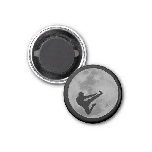 Martial Arts Ninja Moon Refrigerator Magnet