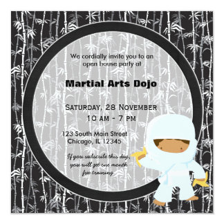 Martial Arts Open House Card