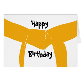 Martial Arts Orange Belt Birthday Card