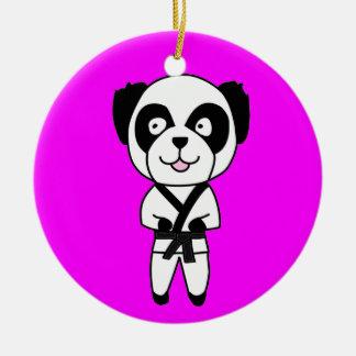 Martial Arts Panda Bear Ornament