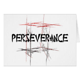 Martial Arts Perseverance Card