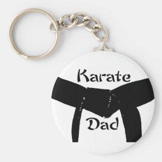 Martial Arts Plain Black Belt Karate Dad Keychain