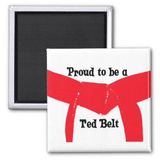 Martial Arts Proud to be a Red Belt Square Magnet