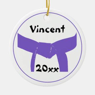 Martial Arts Purple Belt Ceramic Ornament