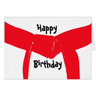 Martial Arts Red Belt Birthday Card