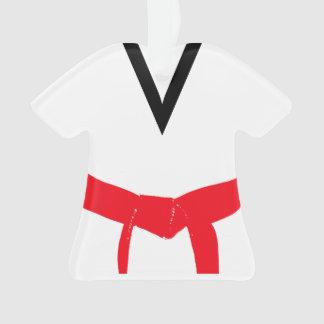Martial Arts Red Belt Uniform Ornament
