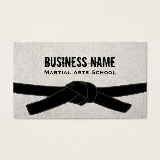 Martial Arts School Karate Dojo Black Belt Master Business Card