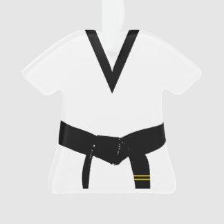 Martial Arts Second Degree Black Belt Uniform Ornament