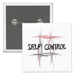 Martial Arts Self Control 2 Inch Square Button