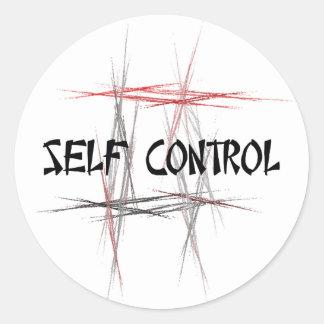 Martial Arts Self Control Round Sticker