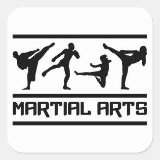 Martial Arts stickers, customizable Square Sticker