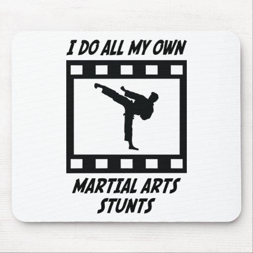 Martial Arts Stunts Mouse Pad
