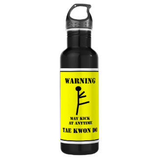 Martial Arts Taekwondo Kick Warning 710 Ml Water Bottle