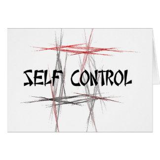 Martial Arts Tenets Self Control Note Card