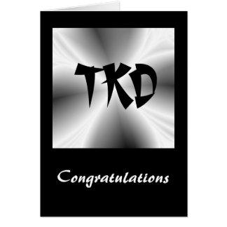 Martial Arts TKD Congratulations Card