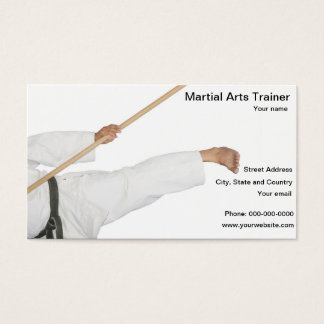 Martial Arts Trainer School Business Card