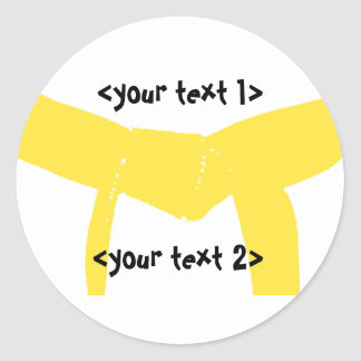 Martial Arts Yellow Belt Classic Round Sticker