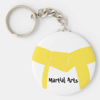 Martial Arts Yellow Belt Keychain
