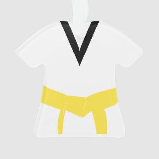 Martial Arts Yellow Belt Uniform Ornament