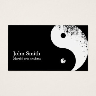 Martial Arts Yin Yang Karate Business Card
