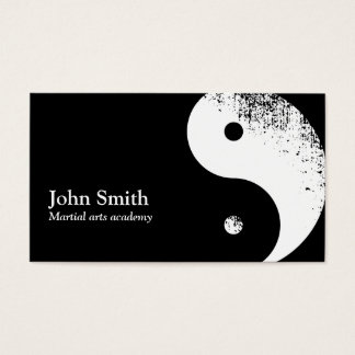 Martial Arts Yin Yang Karate Business Card