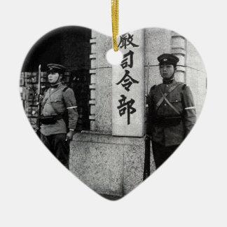 Martial Law HQ Ceramic Heart Ornament