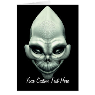 Martian Alien Extraterrestrial Outer Space Skull Card