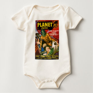 Martian and Earth Girl Baby Bodysuit