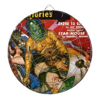 Martian and Earth Girl Dartboard